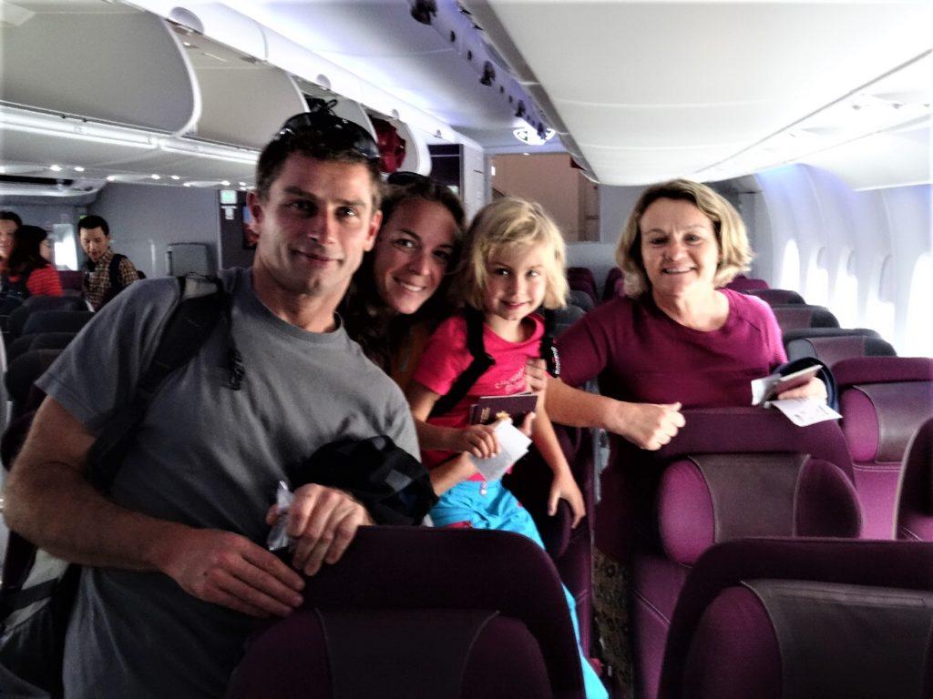 dans l'avion pour colombo