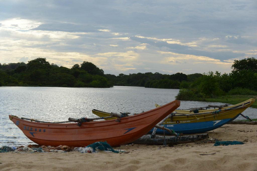 bateaux à elephant rock, près d'arugam bay