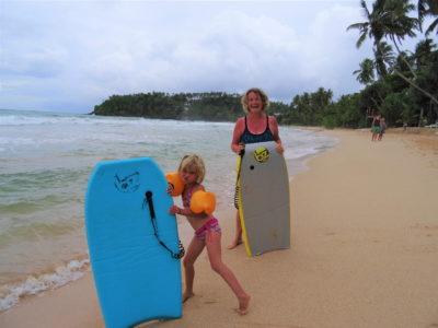 Farniente et body-board à Mirissa