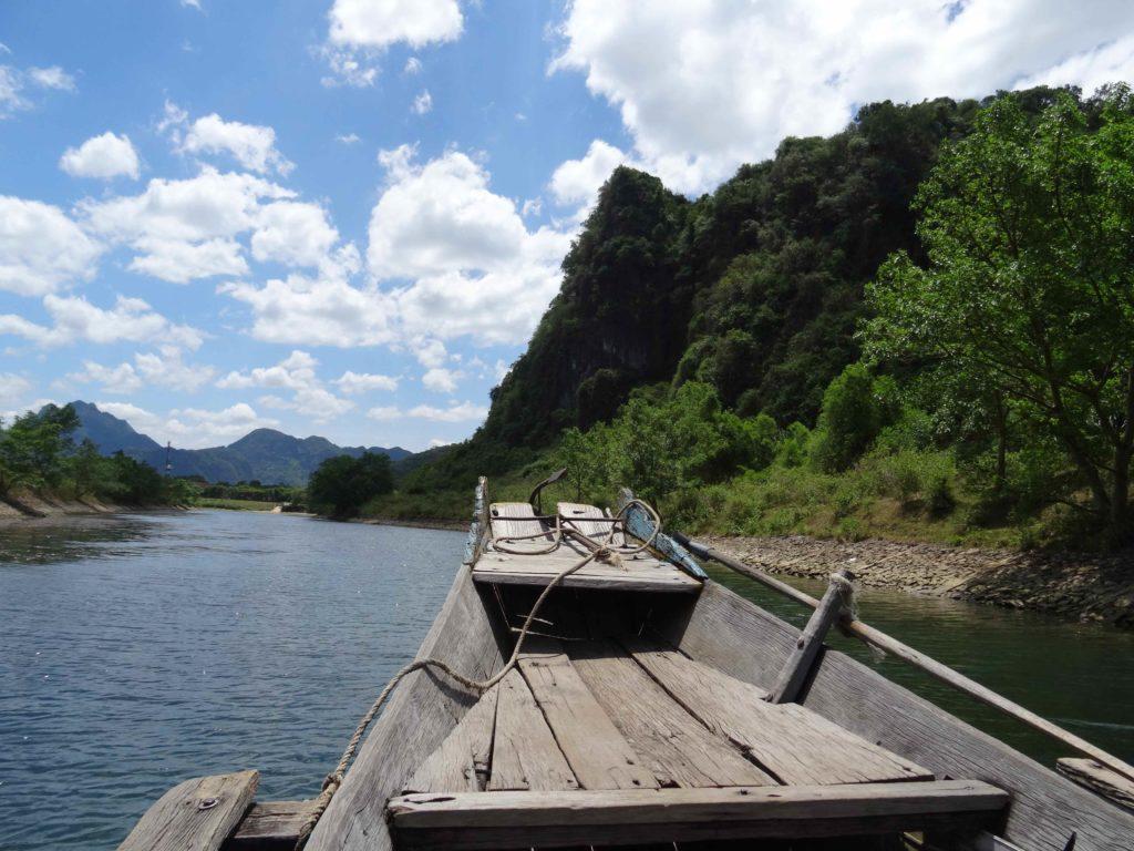 trajet en bateau retour du  Parc National de Phong Nha Ké Bang