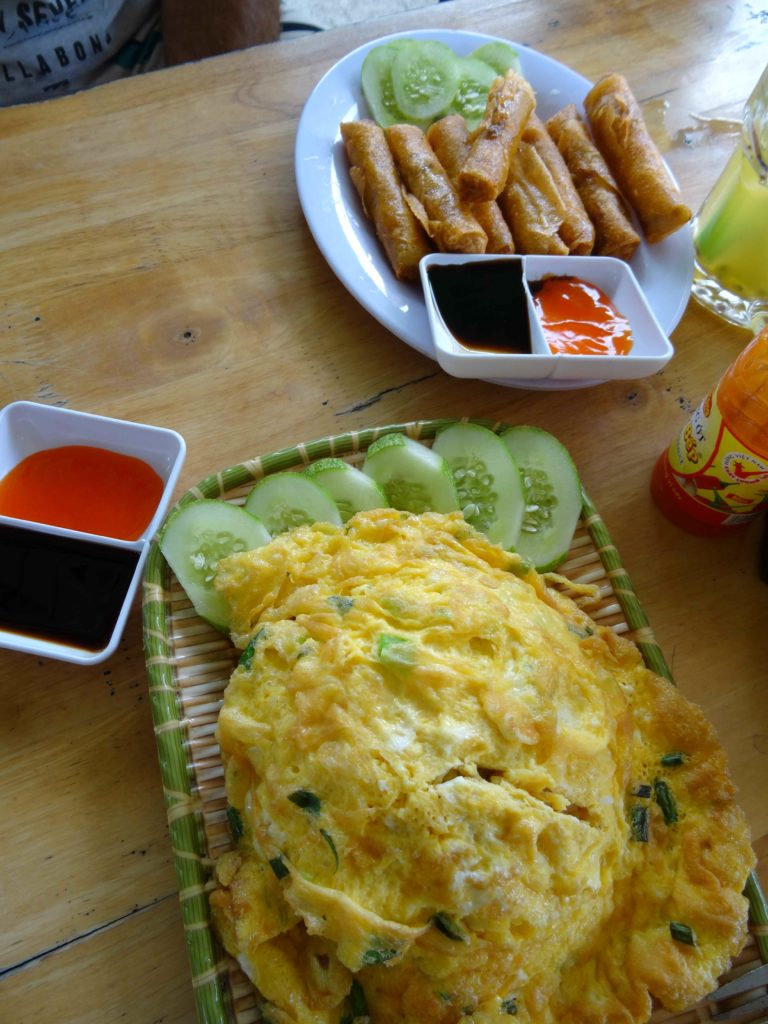 omelette au Parc National de Phong Nha Ké Bang