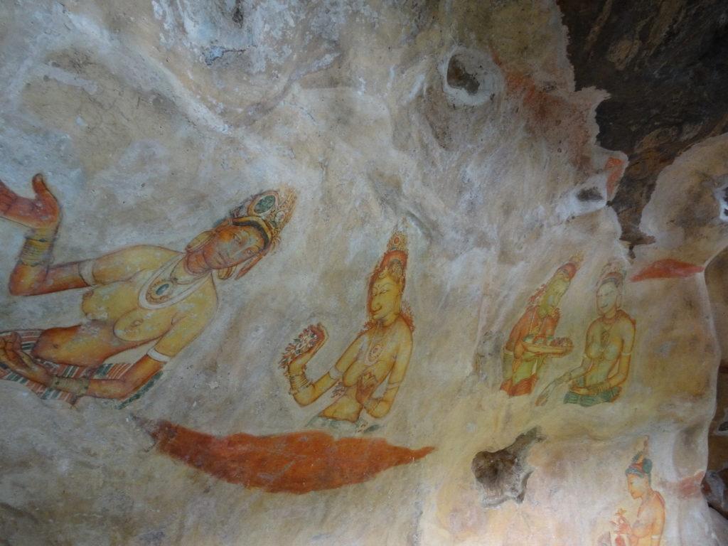 peintures murales à lion rock sigiriya