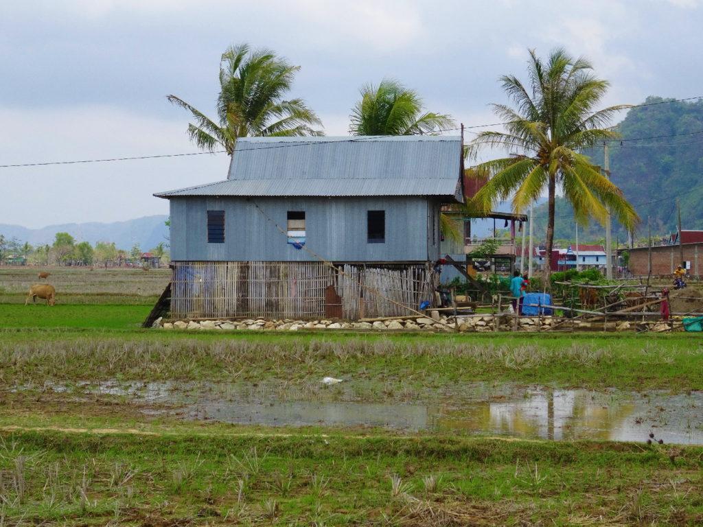 maison au milieu des rizières entre ramang-ramang et makassar