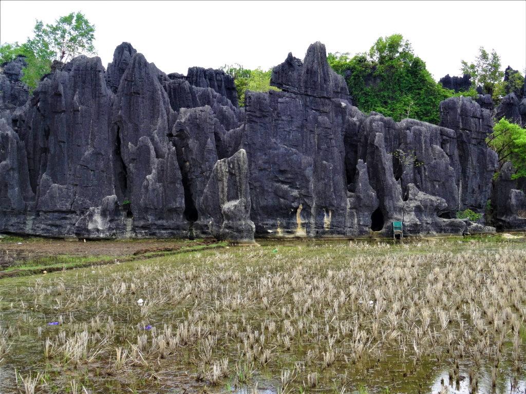 l'entrée pour le labyrinthe dans les roches entre ramang-ramang et makassar
