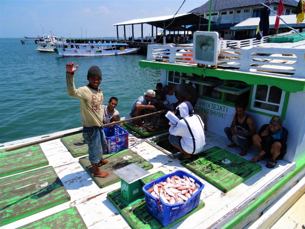 bateau de pêcheur à Paotere le vieux port de Makassar