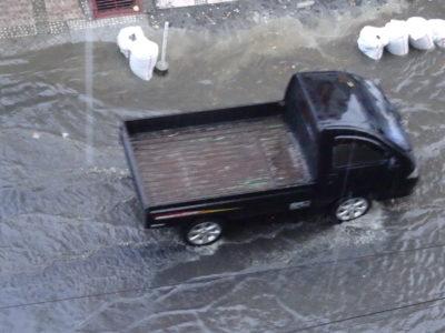 Manado sous la pluie