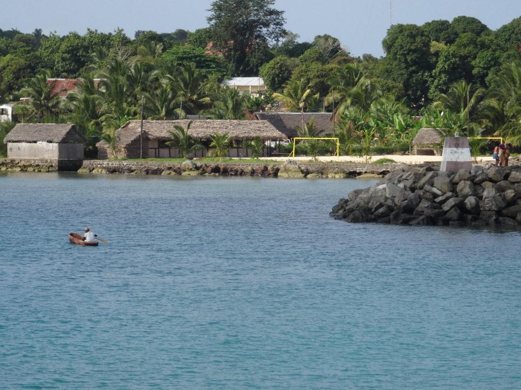 arrivée en bateau à l'île sainte-marie