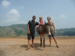 balade en âne autour de mae salong, les 3 chatons et le panorama