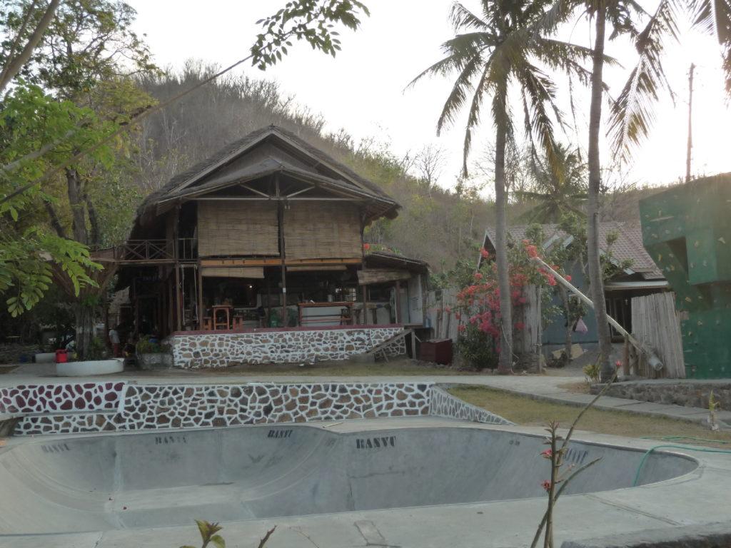 skatepark à  Gerupuk, spot de surfer, Lombok
