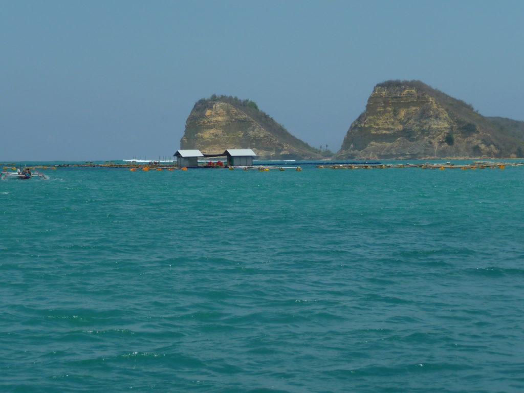 depuis le bateau au spot de surf de Gerupuk, Lombok