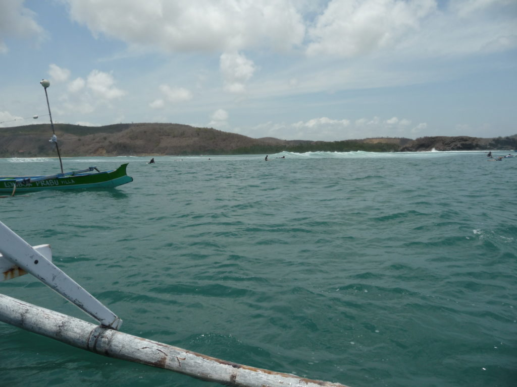 spot de surf de Gerupuk, Lombok