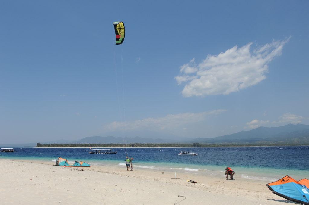 départ de kitesurf à gili air