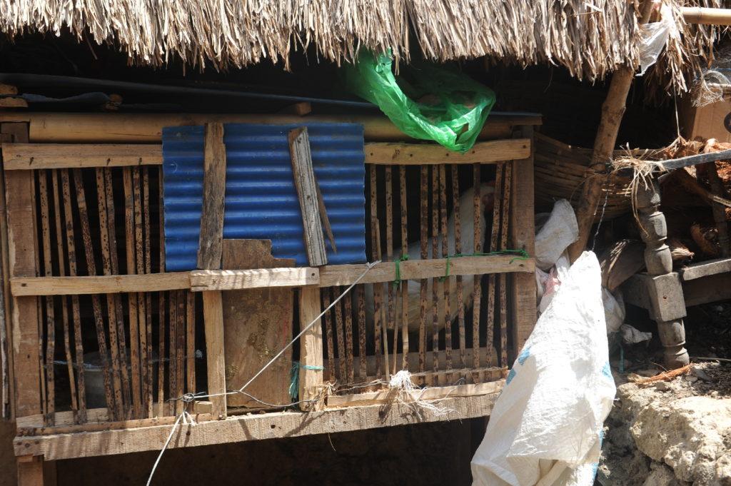 Sade, village sasak à Lombok, clapier à poule