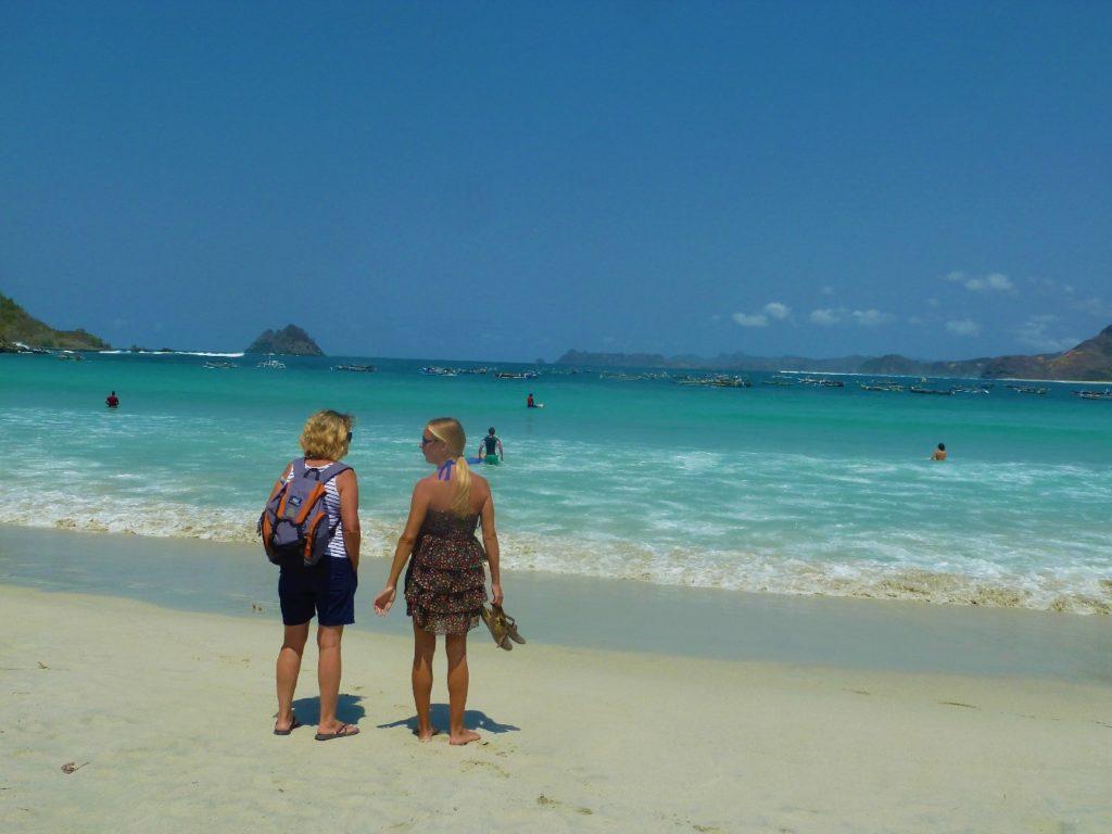 plage de Selong Belanka Beach, pauline et mamisa
