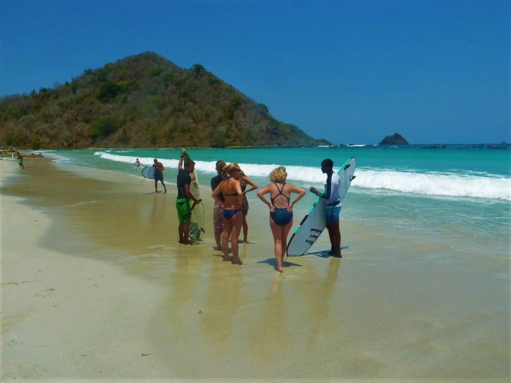 plage de Selong Belanka Beach, notre tribu sur la plage