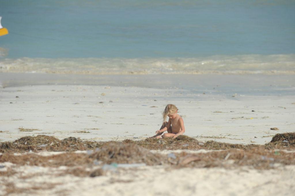 chatounette sur la plage de Tanjung Aan Beach