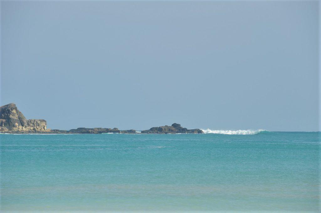 vue sur la mer depuis la plage de Tanjung Aan Beach