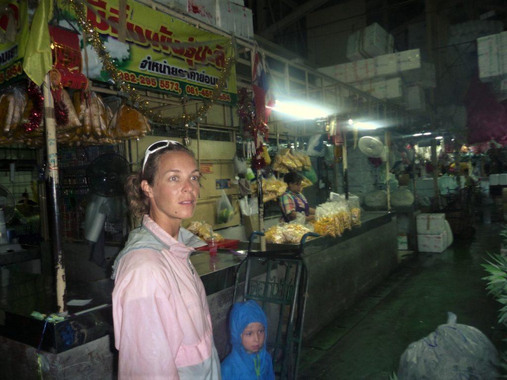 marché aux fleurs à Bangkok