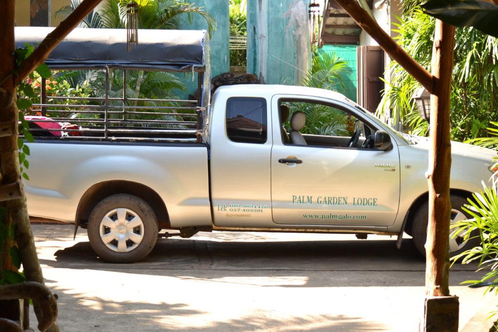 pick up pour rejoindre le parc national de khao yai