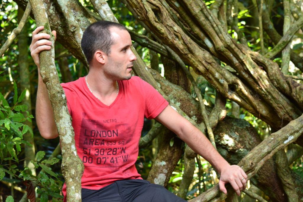 william dans les lianes du parc national de khao yai