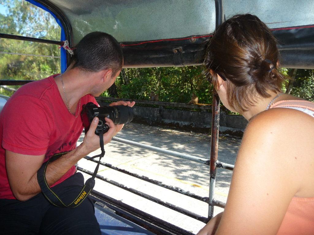 les toots dans le pick up pour rejoindre le parc national de khao yai