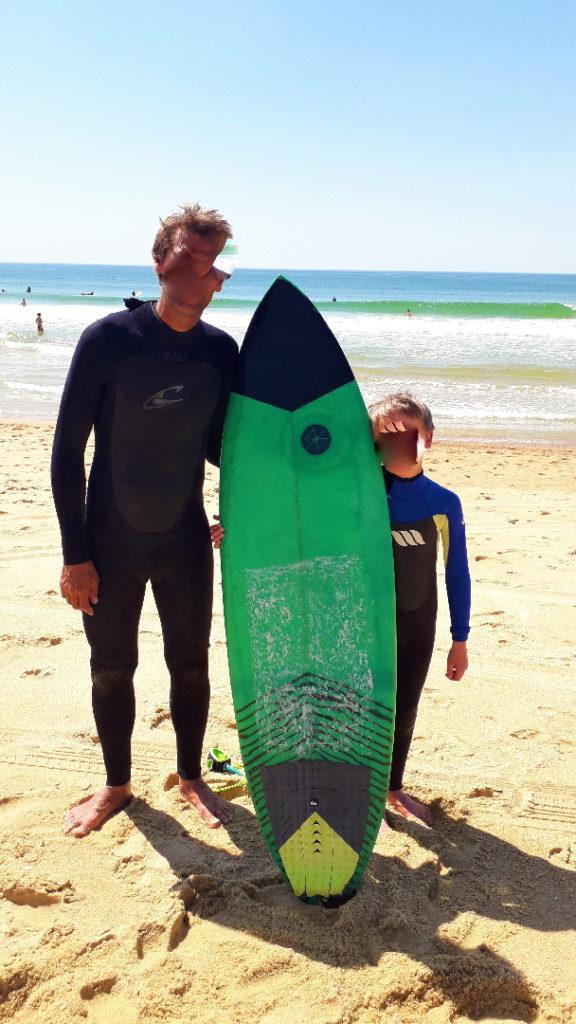 surf entre père et fils