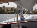 navigation en felouque sur le nil au départ d'assouan